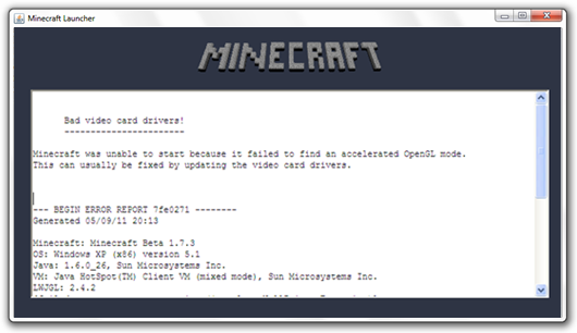 Video card drivers minecraft