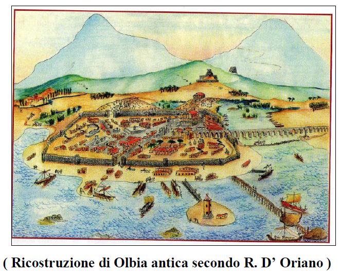 Quotidiano honebu di storia e archeologia storia di olbia for Isola che da il nome a un golfo della sardegna