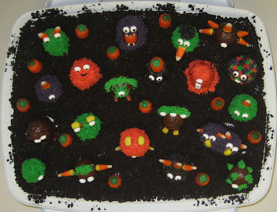 Halloween Little Monster Cake Balls - Overhead View