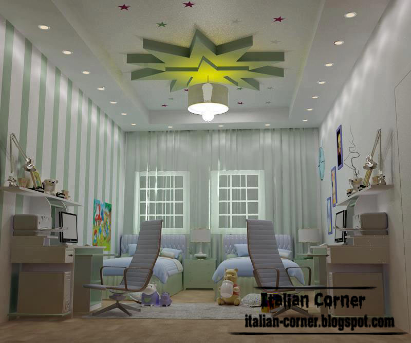 Kids Bedroom Ceiling Designs modern ceiling designs for girls room, modern italian ceilings