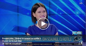 VIDEO: Lidia Leahu. O tânără deosebită care slujește pe Hristos în scaun cu rotile