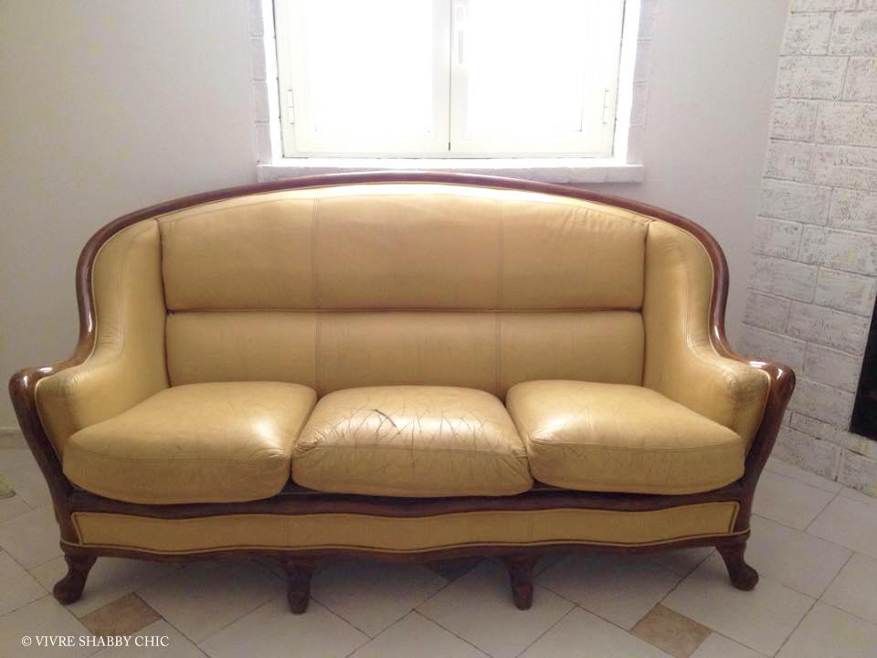Divano Pelle Arancione : Vivre shabby chic restyling di un vecchio divano