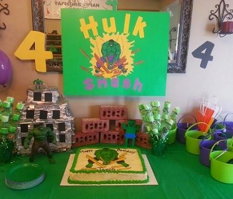 Fiestas Infantiles Decoradas con Hulk, parte 1