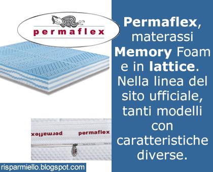 Risparmiello Materassi Permaflex Memory E In Lattice