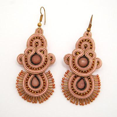 sutasz kolczyki  soutache earrings 33 od martazare