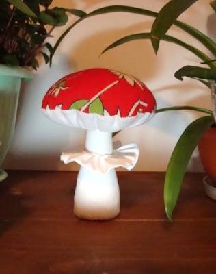 сшить гриб из  ткани