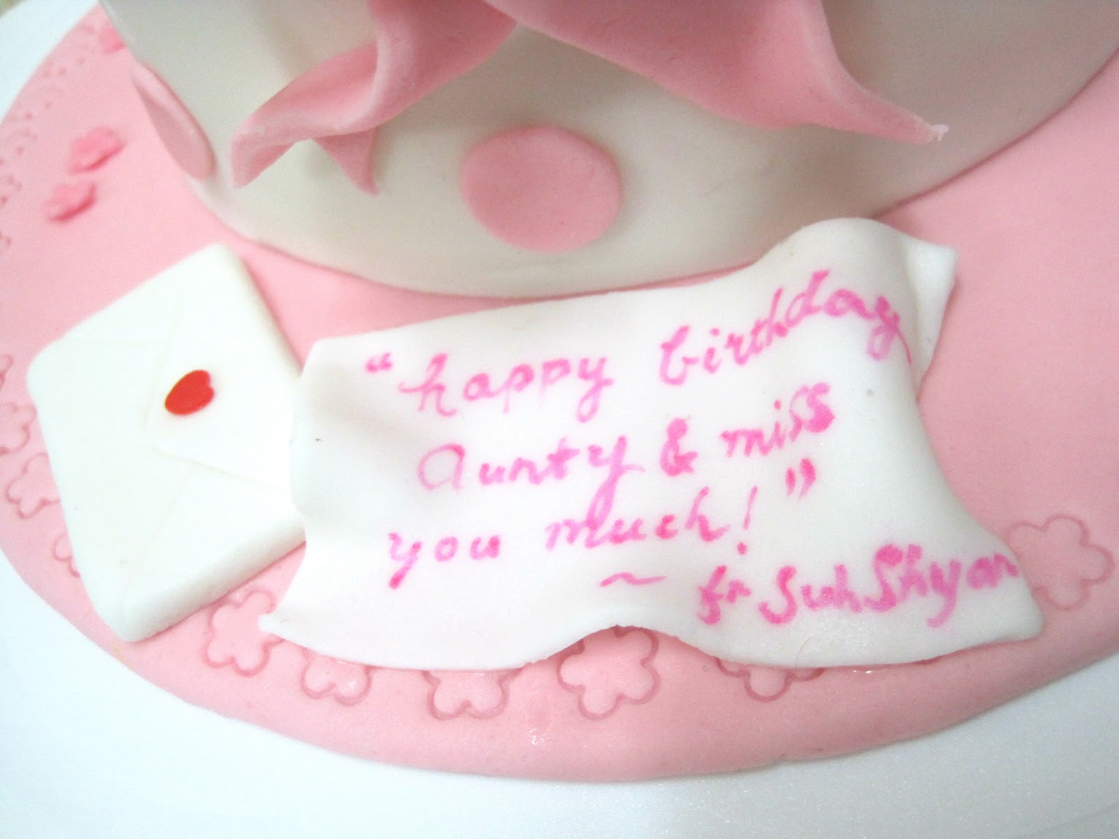 Birthday Cake Images For Aunt : Mom And Daughter Cakes: 3 Piggies Birthday Cake For An Aunt