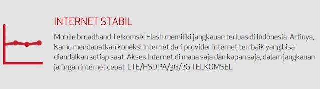 internet telkomsel stabil