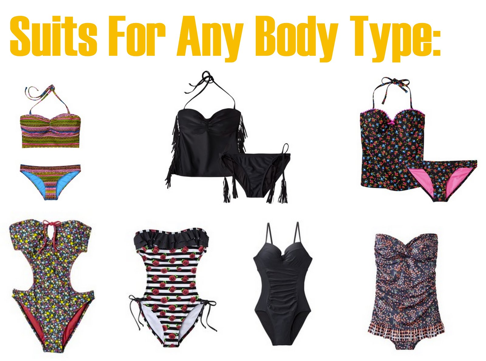 sincerely, truly scrumptious: Swim Suits For Different Shapes