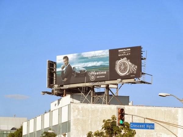David Beckham Breitling Bentley watch billboard