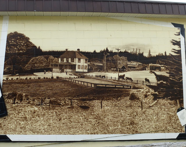 Sooke Agriculture Historium mural - Woodside Farm