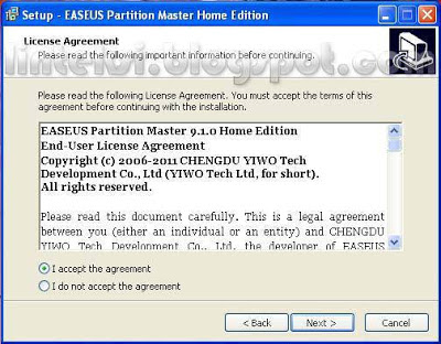 EASEUS Setup License Agreement