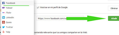 facebook vinculo google plus