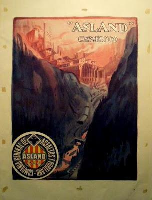 cartel fabrica asland cemento tren guardiola castellar n'hug berga