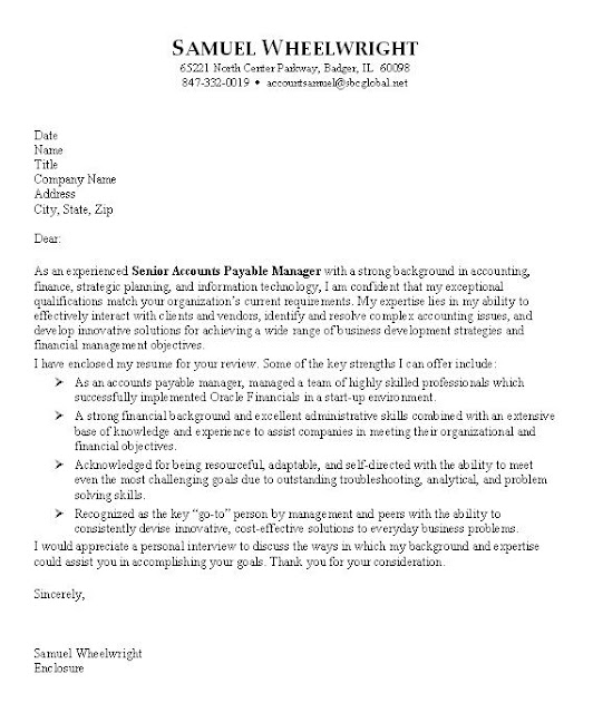 professional cover letter account manager