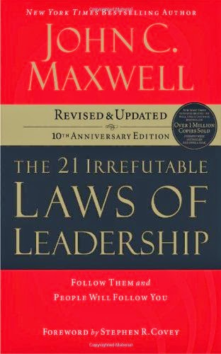 http://www.amazon.com/The-Irrefutable-Laws-Leadership-Anniversary/dp/0785288376/ref=sr_1_1?ie=UTF8&qid=1395753587&sr=8-1&keywords=21+irrefutable+laws+of+leadership+by+john+maxwell