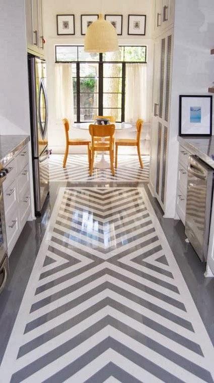 Pintar los suelos con cenefas y dibujos est de moda te - Pintar suelo terrazo ...