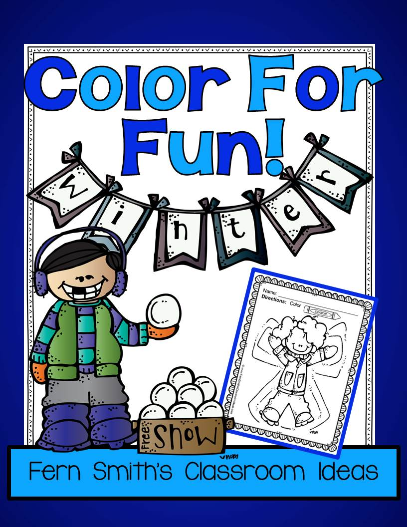Fern Smith's Classroom Ideas Winter Fun! Color For Fun Printable Coloring Pages