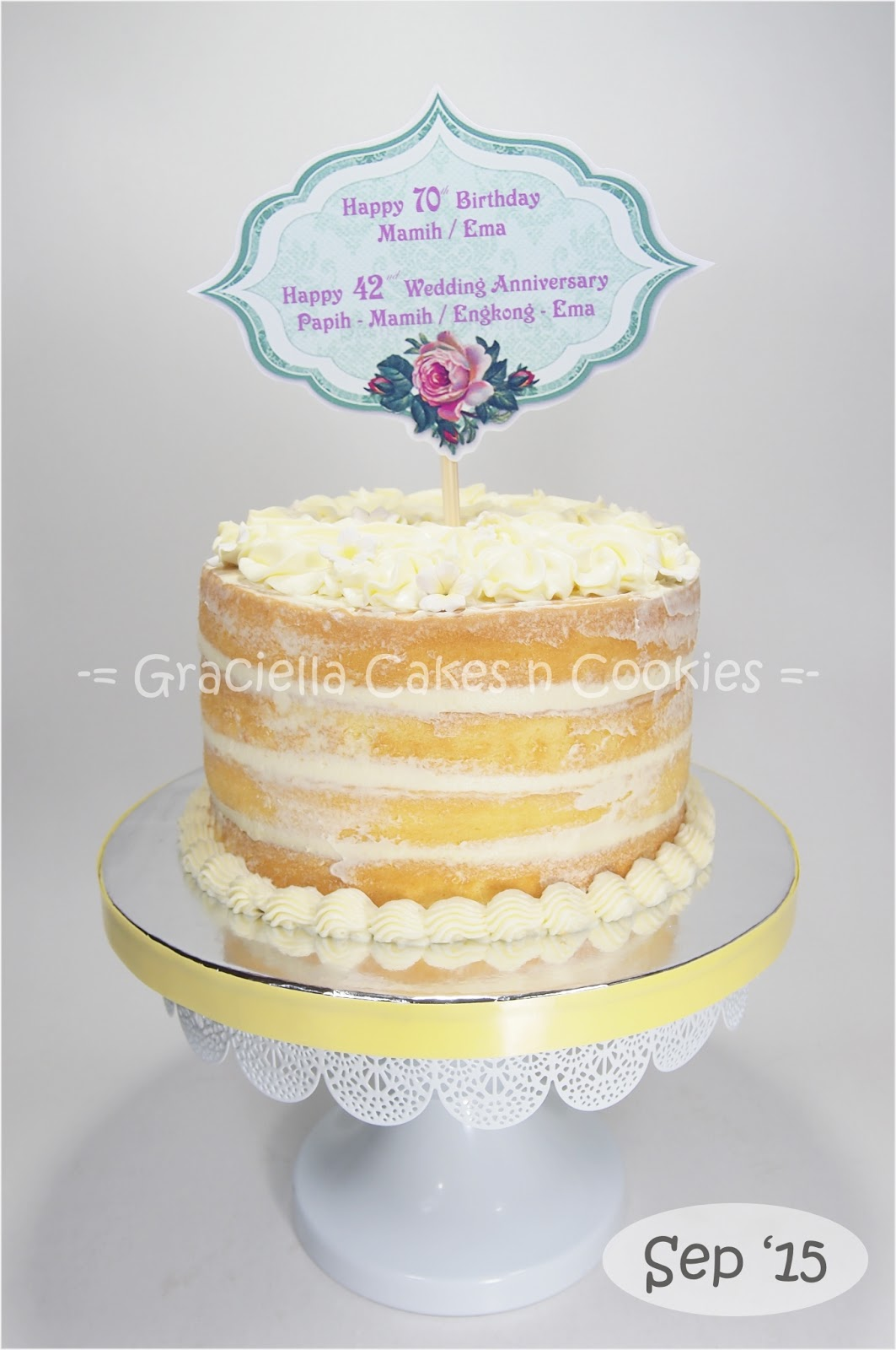 Naked Cake For Birthday N Anniversary