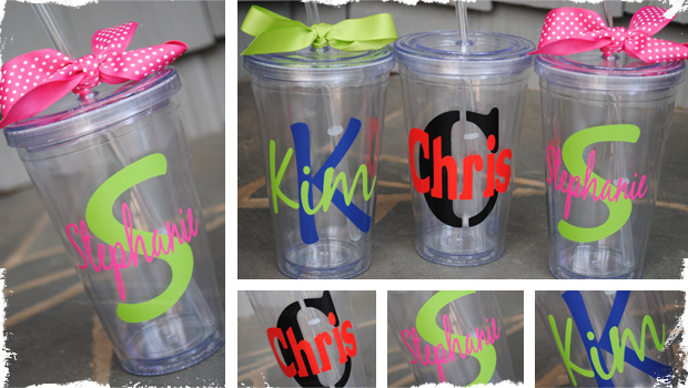 Jennie from the blocks very jane for Vinyl letters for plastic cups