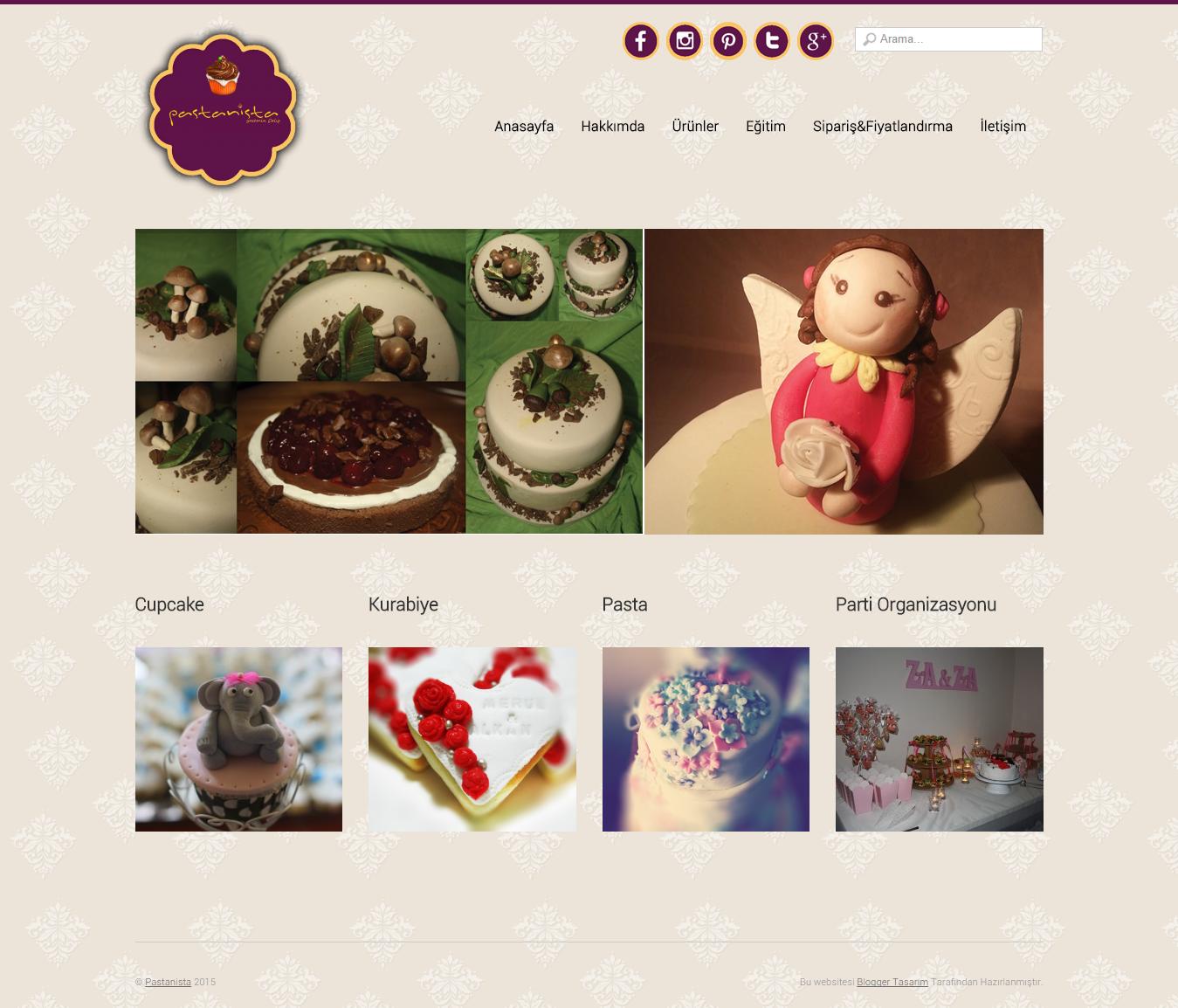 Pastanista Wordpress Tasarımı