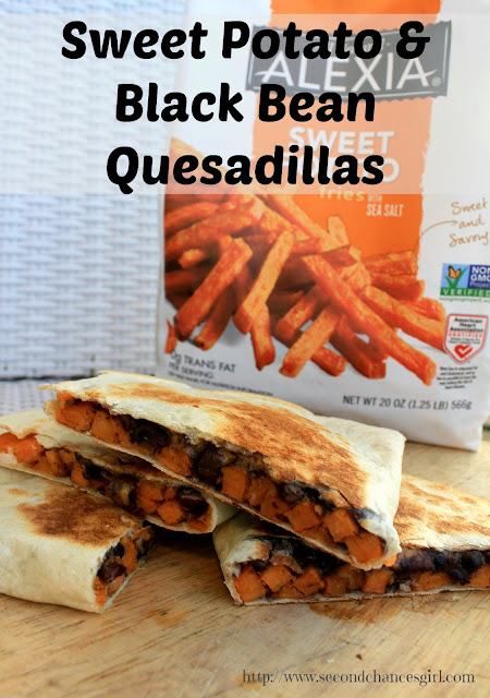 Sweet Potato & Black Bean Quesadillas. These are so delicious. A yummy vegan dish!! #SpringIntoFlavor #ad