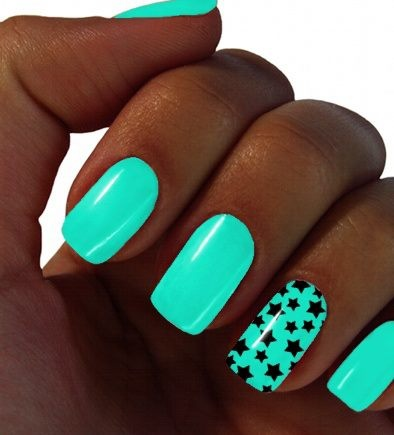 Turquoise Acrylic Nails | Best Nail Designs 2018