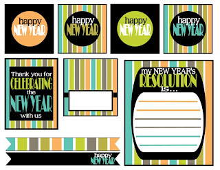 New Year´s Eve: Retro Style Free Printable Kit.