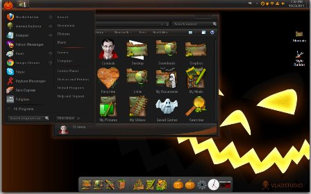 Download skin pack windows 7 Haloween gratis