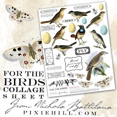 For the Birds Collage Sheet - Nichola Battilana