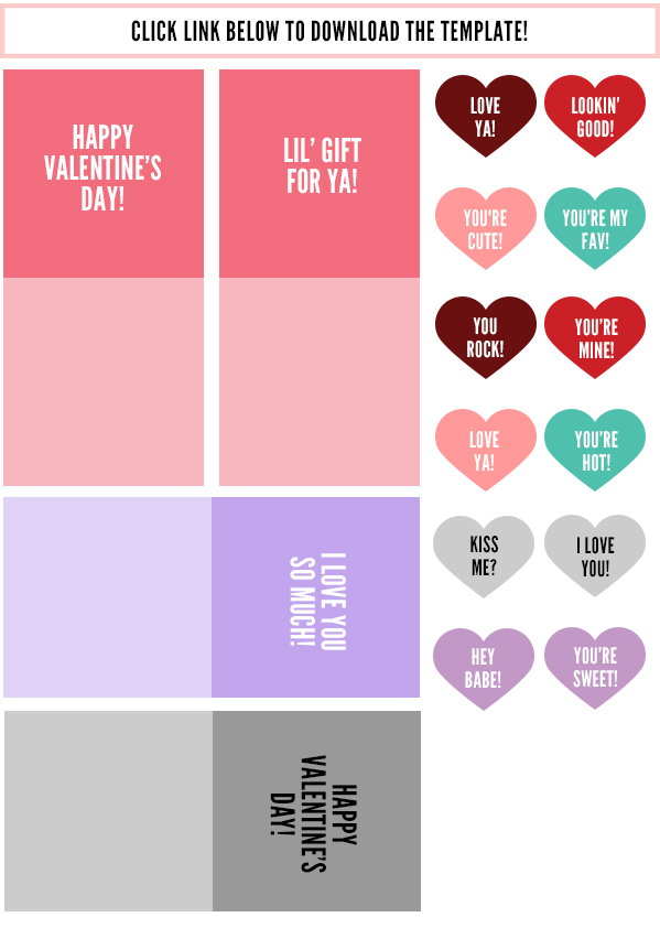 free download valentine's day tea bag hearts