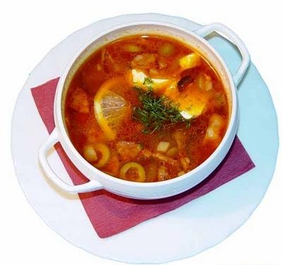 Татарская кухня: солянка халяль