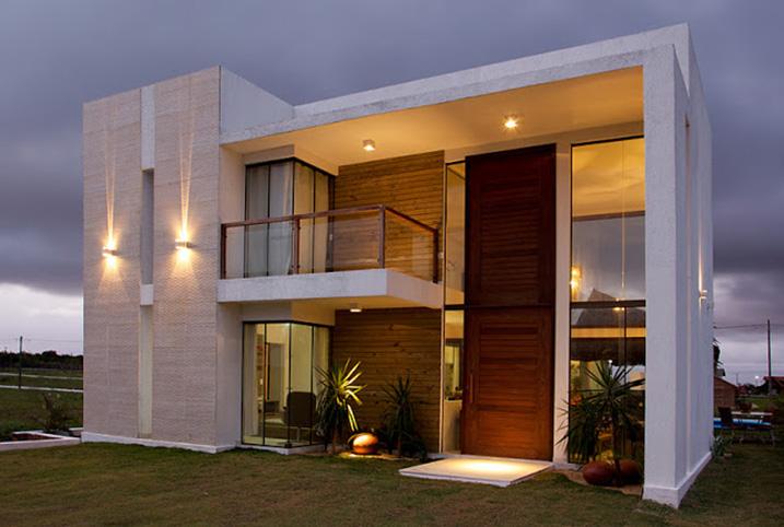Fachadas de casas com m rmores veja modelos lindos e - Material para fachadas ...