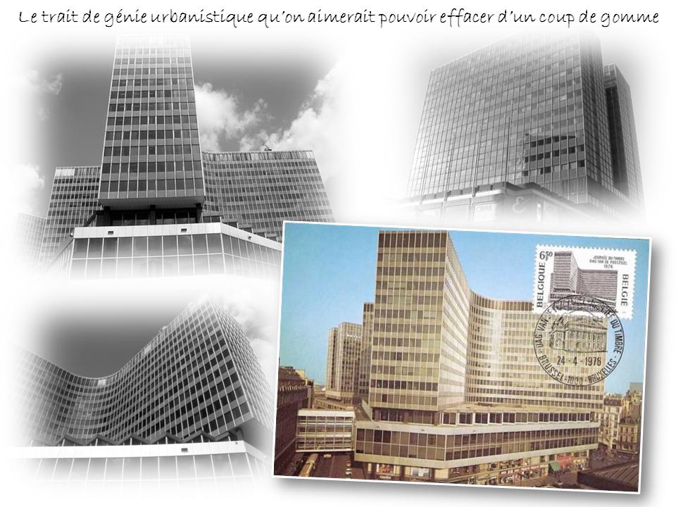 Place de Brouckère et boulevard Anspach - Centre Monnaie et Tour Philips - L'aberration urbanistique au coeur de Bruxelles - Bruxelles-Bruxellons