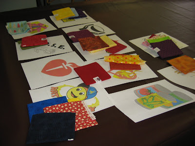 Fusible applique project in progress