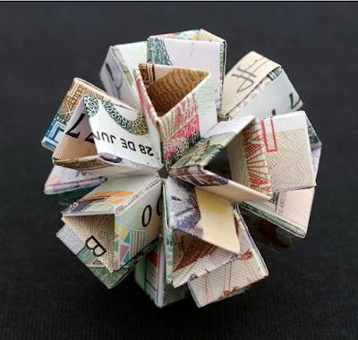 """Сложная фигура-оригами """"Гвоздика"""""""