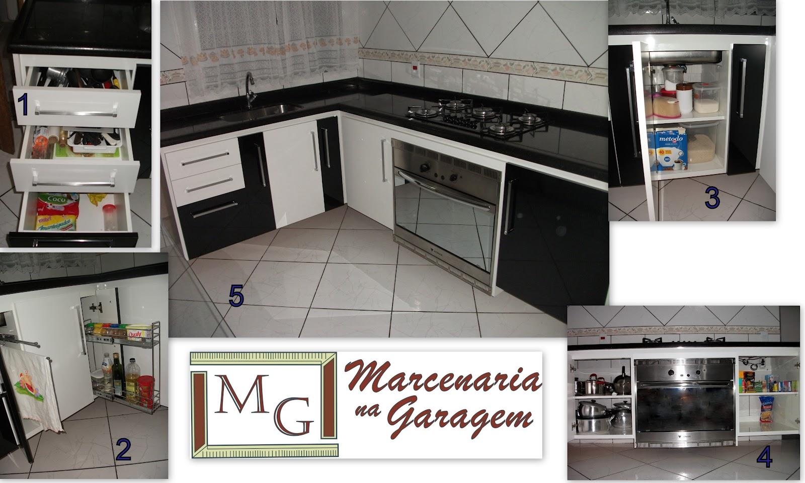 Marcenaria na Garagem: Armário de pia / balcão Cliente Heluzia #1E446E 1600 960