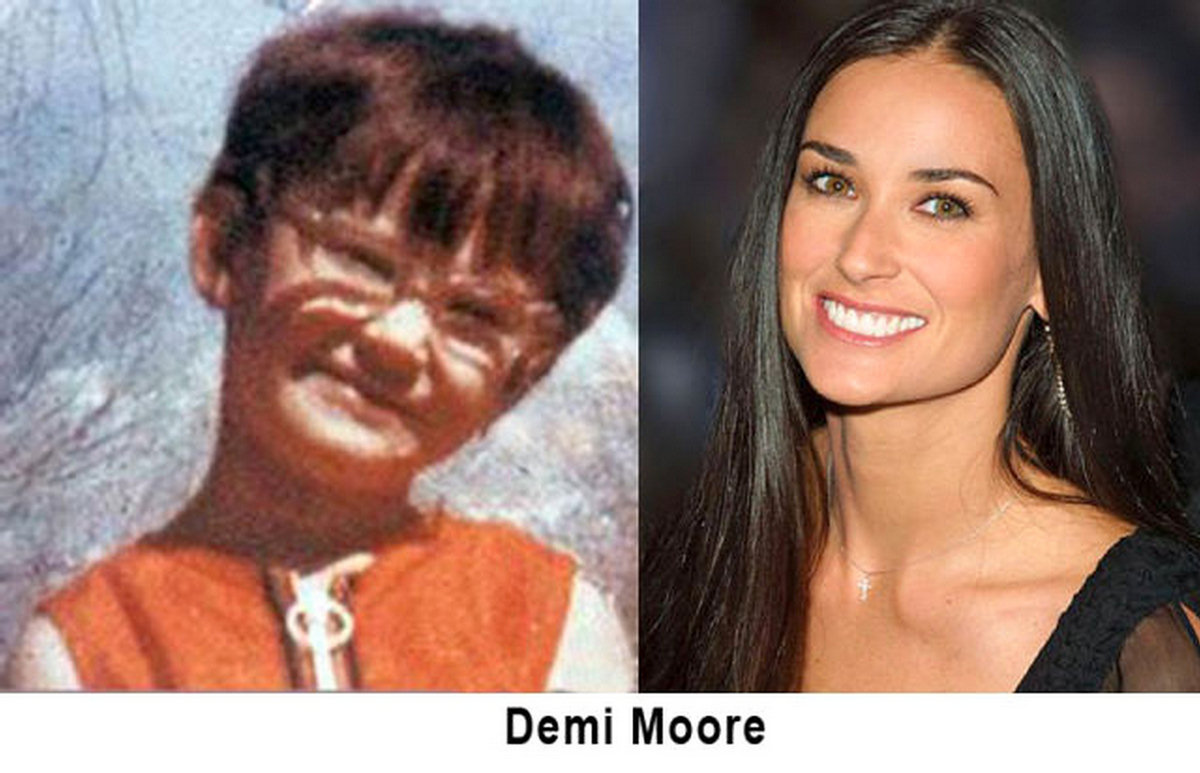 Celebs back then and now