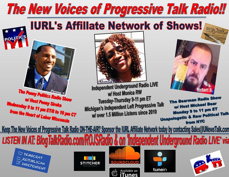 "Photo Credit - IU News & Talk  Michigan's Only True ""Underground"" Progressive Left Radio Network is Independent Underground Radio LIVE, ran by Monica RW since 2010"