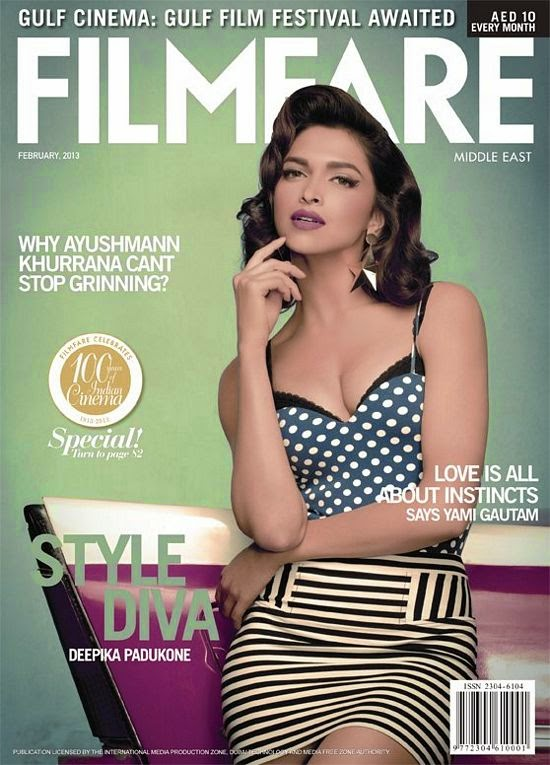 Deepika-Padukone-on-cover-of-FilmFare-Magazine-Middle-east-2013