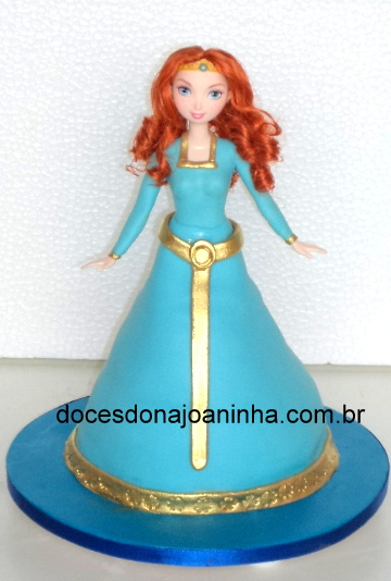Bolo decorado Valente - Princesa Merida