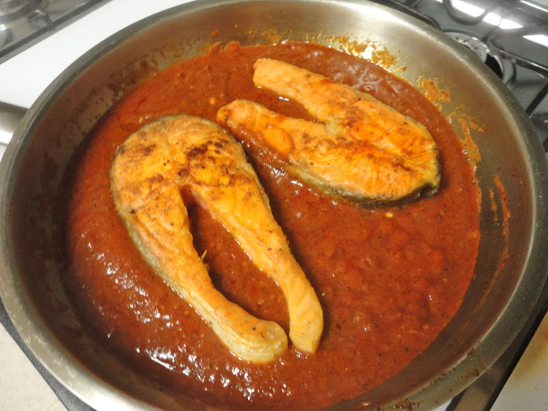 ... Ottolenghi's Salmon Steaks with Spicy Tomato Sauce