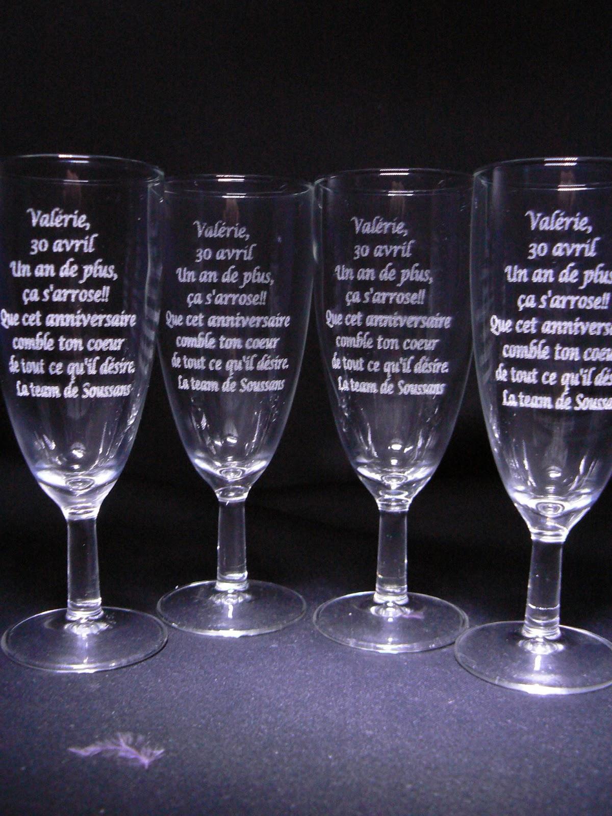 la flute pome grav la flute anniversaire la verre grav dclaration damour nous gravons toutes vos envies contactez nous par mail - Gravure Sur Verre Mariage Bapteme