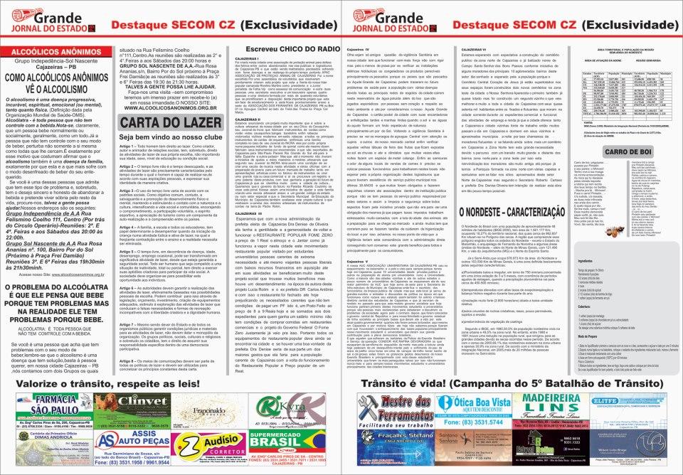 GRANDE  JORNAL DO ESTADO  PB  MATERIAL  DE ARQUIVOS   VEJA  OS TEMAS  E  AS MATERIAS