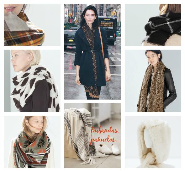 Moda accesorios bufandas pañuelos otono invierno 2014 2015