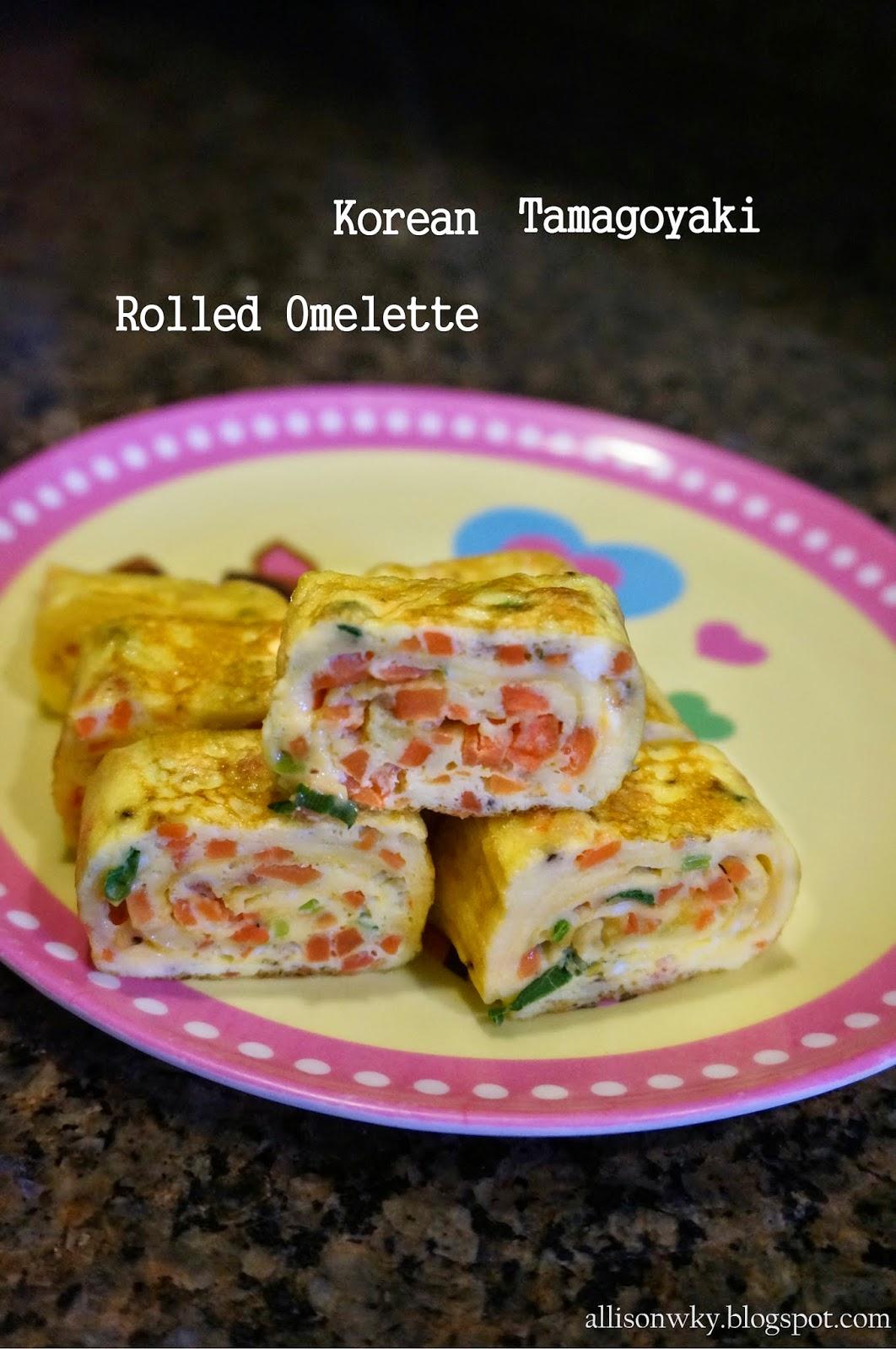 Korean Tamagoyaki (Rolled Omelet) Recipe