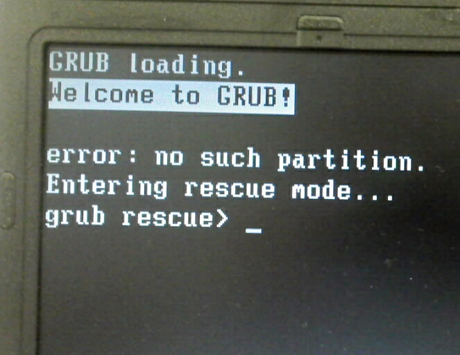 don t touch the screen grub rescue gt