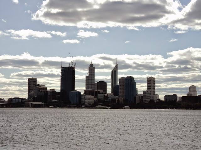 Perth skyline, Western Australia - photo by Katie @ Second-Hand Hedgehog travel blog