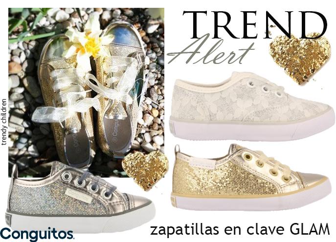 zapatillas deportivas glitter niña conguitos