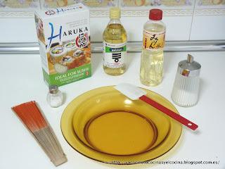 Ingredientes para hacer arroz para Sushi